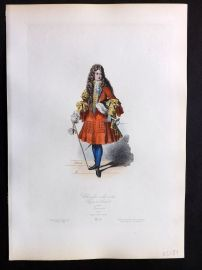 Pauquet 1864 HCol Costume Print. Chevalier a la Mode, 1700